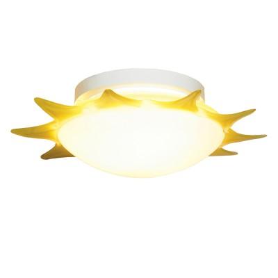 Светильник Lussole LSA-1152-03 желтыйДетские<br>Настенно потолочный светильник Lussole (Люссоль) LSA-1152-03 подходит как для установки в вертикальном положении - на стены, так и для установки в горизонтальном - на потолок. Для установки настенно потолочных светильников на натяжной потолок необходимо использовать светодиодные лампы LED, которые экономнее ламп Ильича (накаливания) в 10 раз, выделяют мало тепла и не дадут расплавиться Вашему потолку.<br><br>S освещ. до, м2: 12<br>Тип лампы: накаливания / энергосбережения / LED-светодиодная<br>Тип цоколя: E27<br>Количество ламп: 3<br>MAX мощность ламп, Вт: 40<br>Диаметр, мм мм: 470<br>Расстояние от стены, мм: 150<br>Оттенок (цвет): белый<br>Цвет арматуры: белый