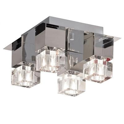 Люстра Lussole LSA-1307-04 Grosseto хромПотолочные<br>Ультрасовременная люстра LUSSOLE LSA-1307-04 GROSSETO благодаря своим четким геометрическим формам притягивает к себе взгляд! Она необычная, яркая, и великолепно подходит к интерьеру в стиле «модерн» или «хай-тек». Четыре лампочки создают направленное освещение на расстоянии до одиннадцати квадратных метров, хрустальные плафоны гармонично сочетаются с металлическим основанием и креплением. Эта люстра станет броской и креативной деталью вашего интерьера!<br><br>Установка на натяжной потолок: Да<br>S освещ. до, м2: 11<br>Крепление: Планка<br>Тип лампы: галогенная / LED-светодиодная<br>Тип цоколя: G9<br>Количество ламп: 4<br>Ширина, мм: 360<br>MAX мощность ламп, Вт: 40<br>Длина, мм: 360<br>Высота, мм: 210<br>Оттенок (цвет): серебристый хром (кристальный)<br>Цвет арматуры: серебристый