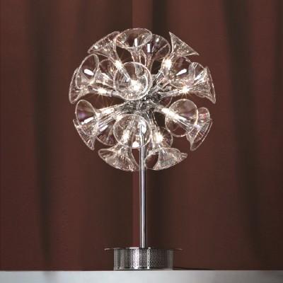 Настольная лампа Lussole LSA-1604-12Хай тек<br>Настольная лампа – это не просто источник дополнительного освещения, но и оригинальный элемент декора. Его можно установить в спальне, гостиной, кабинете и других комнатах. Интернет-магазин «Светодом» предлагает настольные лампы разных стилей по доступным ценам. Благодаря большому ассортименту Вы обязательно найдете в нашем каталоге именно ту модель, которую искали. <br> Настольная лампа Lussole LSA-1604-12 – прекрасный вариант для завершения интерьера. Ее можно включить одновременно с люстрой для более яркого освещения или без нее для создания уютной атмосферы, настраивающей на отдых. <br> Купить настольную лампу Lussole LSA-1604-12 Вы можете с помощью виртуальной «Корзины» или по контактным номерам, указанным на сайте.<br><br>S освещ. до, м2: 8<br>Тип лампы: галогенная / LED-светодиодная<br>Тип цоколя: G4<br>Количество ламп: 12<br>MAX мощность ламп, Вт: 10<br>Диаметр, мм мм: 330<br>Высота, мм: 570<br>Оттенок (цвет): прозрачный<br>Цвет арматуры: серебристый