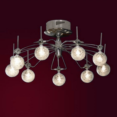 Люстра Lussole LSA-2507-09 Ragnatela хромПотолочные<br>Чтобы создать особую современную обстановку стиля и комфорта в собственном доме, необходимо обратиться к правильному освещению. Дизайнеры создали прекрасное творение для насыщения пространства ярким светом наряду с интересными и плавными пропорциями – это потолочная люстра Lussole LSA-2507-09 в формате модерн. Яркость света будет просто неподражаемой по своей насыщенности, ведь её гарантируют целых девять галогенных ламп. Конструкция дизайнерского творения голубовато-стального сияния пропитана мягкостью форм, плавной геометрией и переплетениями. Это Ваш выбор в пользу ультрамодного совершенства! Истинный аксессуар света в стиле модерн представлен в лаконичной люстре Lussole LSA-2507-09.<br><br>Установка на натяжной потолок: Да<br>S освещ. до, м2: 12<br>Тип лампы: галогенная<br>Тип цоколя: G4<br>Количество ламп: 9<br>MAX мощность ламп, Вт: 20<br>Диаметр, мм мм: 700<br>Высота, мм: 250<br>Оттенок (цвет): шелковая нить (белый)<br>Цвет арматуры: серебристый хром