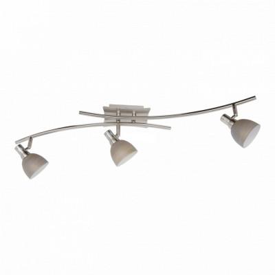 Светильник Lussole LSA-3071-03 Spilimbergo никельТройные<br>Универсальный светильник Lussole LSA-3071-03 Spilimbergo очень удобен тем, что его можно использовать не только в качестве потолочного, но и в роли настенного источника света и располагать как горизонтально или вертикально, так и под любым углом, что дает широкий простор для творчества и возможность сделать свой интерьер неповторимым и уникальным! Три плафона благодаря специальной конструкции, поворачиваются в разные стороны, то есть Вы сами легко сможете управлять направлением освещения, создавая необходимые акценты. Оттенок «никель» идеально подходит в любую цветовую гамму комнаты, делая ее стильной и современной.<br><br>S освещ. до, м2: 8<br>Тип лампы: галогенная / LED-светодиодная<br>Тип цоколя: G9<br>Цвет арматуры: серый<br>Количество ламп: 3<br>Ширина, мм: 17<br>Длина, мм: 80<br>Расстояние от стены, мм: 18<br>MAX мощность ламп, Вт: 40