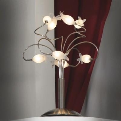 Настольная лампа Lussole LSA-3394-08 никельФлористика<br>Настольная лампа – это не просто источник дополнительного освещения, но и оригинальный элемент декора. Его можно установить в спальне, гостиной, кабинете и других комнатах. Интернет-магазин «Светодом» предлагает настольные лампы разных стилей по доступным ценам. Благодаря большому ассортименту Вы обязательно найдете в нашем каталоге именно ту модель, которую искали.   Настольная лампа Lussole LSA-3394-08 – прекрасный вариант для завершения интерьера. Ее можно включить одновременно с люстрой для более яркого освещения или без нее для создания уютной атмосферы, настраивающей на отдых.   Купить настольную лампу Lussole LSA-3394-08 Вы можете с помощью виртуальной «Корзины» или по контактным номерам, указанным на сайте.<br><br>S освещ. до, м2: 6<br>Тип товара: настольная лампа<br>Тип лампы: галогенная / LED-светодиодная<br>Тип цоколя: G4<br>Количество ламп: 8<br>MAX мощность ламп, Вт: 10<br>Диаметр, мм мм: 440<br>Высота, мм: 540<br>Оттенок (цвет): белый<br>Цвет арматуры: серый