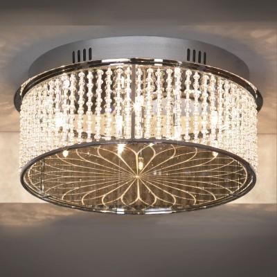 Люстра Lussole Lsa-5207-09Потолочные<br>Потолочная люстра Lussole Lsa-5207-09 - великолепный экземпляр итальянского мастерства, в котором традиционная, передающаяся из поколения в поколение обработка хрусталя, неповторимая красота и тщательная проработка каждой детали идеально сочетается с современными технологиями и международными стандартами качества! Конструкция выполнена таким образом, что все девять ламп «упакованы» в круглую форму, «прошитую» сверкающими «нитями». Лучи, попадая на хрусталь, отражаются во множестве граней и создают уникальное, «искристое» освещение. Светильник идеально впишется в Ваш интерьер, внесет в него роскошный, «праздничный» облик и неповторимую красоту!<br><br>Установка на натяжной потолок: Да<br>S освещ. до, м2: 11<br>Крепление: Планка<br>Тип лампы: галогенная / LED-светодиодная<br>Тип цоколя: G4<br>Количество ламп: 9<br>Ширина, мм: 400мм<br>MAX мощность ламп, Вт: 20<br>Диаметр, мм мм: 400мм<br>Высота, мм: 180мм<br>Цвет арматуры: серебристый