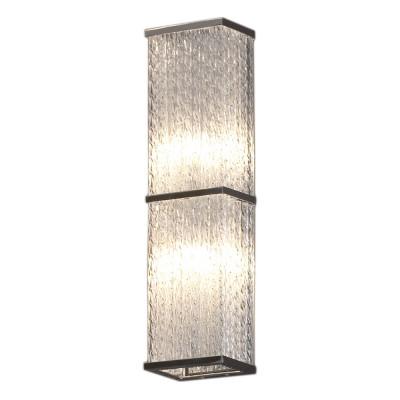 Светильник Lussole LSA-5401-02Длинные<br>Итальянский светильник Lussole LSA-5401-02 станет прекрасным дополнением к интерьеру! «Строгая» прямоугольная форма, как будто вырезанная из цельного кристалла, отсутствие «утяжеляющих» конструкцию декоративных элементов,  металлическая «окантовка» плафона идеально подойдут к «минималистичному» оформлению комнаты. Наиболее выигрышно светильник будет функционировать в качестве боковой подсветки, например, настенного зеркала, картины и т.п. Рекомендуем Вам приобретать этот источник света в комплекте из нескольких экземпляров, чтобы интерьер выглядел «цельным», уютным и совершенным.<br><br>S освещ. до, м2: 5<br>Тип лампы: галогенная / LED-светодиодная<br>Тип цоколя: G9<br>Количество ламп: 2<br>Ширина, мм: 90<br>MAX мощность ламп, Вт: 40<br>Расстояние от стены, мм: 90<br>Высота, мм: 370<br>Цвет арматуры: серебристый