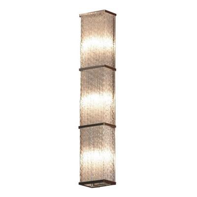 Светильник настенно-потолочный Lussole LSA-5401-03 LARIANOДлинные<br>Стильный итальянский светильник Lussole LSA-5401-03 станет прекрасным дополнением к интерьеру! «Строгая» прямоугольная форма, как будто вырезанная из цельного кристалла, отсутствие «утяжеляющих» конструкцию декоративных элементов,  металлическая «окантовка» плафона идеально подойдут к «минималистичному» оформлению комнаты. Наиболее выигрышно светильник будет функционировать в качестве подсветки похожих по силуэту предметов, например, настенного удлиненного зеркала, картины, ниши и т.п. Рекомендуем Вам приобретать этот источник света в комплекте из нескольких экземпляров, чтобы интерьер выглядел «цельным», уютным и совершенным.<br><br>S освещ. до, м2: 8<br>Тип лампы: галогенная / LED-светодиодная<br>Тип цоколя: G9<br>Количество ламп: 3<br>Ширина, мм: 90<br>Расстояние от стены, мм: 90<br>Высота, мм: 550<br>MAX мощность ламп, Вт: 40