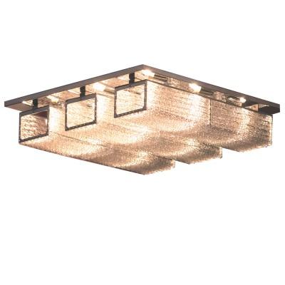 Люстра Lussole LSA-5407-09 LARIANOПотолочные<br>Компания «Светодом» предлагает широкий ассортимент люстр от известных производителей. Представленные в нашем каталоге товары выполнены из современных материалов и обладают отличным качеством. Благодаря широкому ассортименту Вы сможете найти у нас люстру под любой интерьер. Мы предлагаем как классические варианты, так и современные модели, отличающиеся лаконичностью и простотой форм. <br>Стильная люстра Lussole LSA-5407-09 станет украшением любого дома. Эта модель от известного производителя не оставит равнодушным ценителей красивых и оригинальных предметов интерьера. Люстра Lussole LSA-5407-09 обеспечит равномерное распределение света по всей комнате. При выборе обратите внимание на характеристики, позволяющие приобрести наиболее подходящую модель. <br>Купить понравившуюся люстру по доступной цене Вы можете в интернет-магазине «Светодом».<br><br>Установка на натяжной потолок: Ограничено<br>S освещ. до, м2: 24<br>Крепление: Планка<br>Тип лампы: галогенная / LED-светодиодная<br>Тип цоколя: G9<br>Количество ламп: 9<br>Ширина, мм: 400<br>Длина, мм: 400<br>Высота, мм: 110<br>MAX мощность ламп, Вт: 40