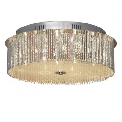 Люстра Lussole LSA-5807-14 ANGERAсовременные потолочные люстры модерн<br>Роскошная потолочная люстра Lussole LSA-5807-14 станет «находкой» для большой по площади комнаты, оформленной в стиле «модерн»! Нарочито «простая», круглая форма подчеркивает оригинальное исполнение плафона – глядя на него создается ощущение, что он выполнен из серебряных нитей и наполнен воздухом. Лучи света, проходя сквозь грани конструкции, создают на ней блики и неповторимое сияние, и освещение получается ярким и комфортным для зрения. В плафоне «спрятано» 14 лампочек, поэтому наиболее функционально люстра будет работать в просторной комнате, например, зале, кухне-столовой, гостиной и т.д.<br><br>Установка на натяжной потолок: Ограничено<br>S освещ. до, м2: 18<br>Крепление: Планка<br>Тип лампы: галогенная / LED-светодиодная<br>Тип цоколя: G4<br>Количество ламп: 14<br>Диаметр, мм мм: 500<br>Высота, мм: 180<br>MAX мощность ламп, Вт: 20