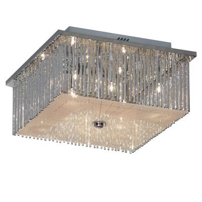 Люстра Lussole LSA-5877-08Потолочные<br>Итальянский потолочный светильник Lussole LSA-5877-08 придется по вкусу всем ценителям современных стилей оформления интерьера! «Строгая» квадратная форма без декоративных деталей эффектно подчеркивает оригинальное исполнение плафона – он как будто соткан из сотен серебряных нитей и наполнен воздухом. Создаваемые блики и искры делают конструкцию «живой» и невероятно красивой. Люстра станет настоящим украшением комнаты и всегда будет находиться в центре восхищенного внимания Ваших гостей!<br><br>Установка на натяжной потолок: Ограничено<br>S освещ. до, м2: 10<br>Крепление: Планка<br>Тип лампы: галогенная / LED-светодиодная<br>Тип цоколя: G4<br>Количество ламп: 8<br>Ширина, мм: 350<br>MAX мощность ламп, Вт: 20<br>Длина, мм: 350<br>Высота, мм: 180