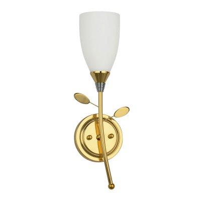 Светильник lsp-7211Флористика<br>Изысканный настенный светильник Lussole LSA-7201-01 Arcole идеально подойдет в качестве дополнительного источника света в Вашем интерьере! Выполненный в форме распускающегося изящного цветка на стебле с лепестками, он смотрится роскошно и привлекает внимание за счет благородного сочетания «золотого» и белого оттенков. Бра может служить не только в качестве подсветки, но и самостоятельным элементом декора комнаты. Чтобы интерьер выглядел гармоничным, стильным и уютным, рекомендуем Вам использовать светильник в комплекте из нескольких экземпляров, а также люстрой этой же серии.<br><br>S освещ. до, м2: 3<br>Тип лампы: накаливания / энергосбережения / LED-светодиодная<br>Тип цоколя: E14<br>Количество ламп: 1<br>Ширина, мм: 160<br>MAX мощность ламп, Вт: 40<br>Расстояние от стены, мм: 110<br>Высота, мм: 380<br>Оттенок (цвет): белый<br>Цвет арматуры: золотой