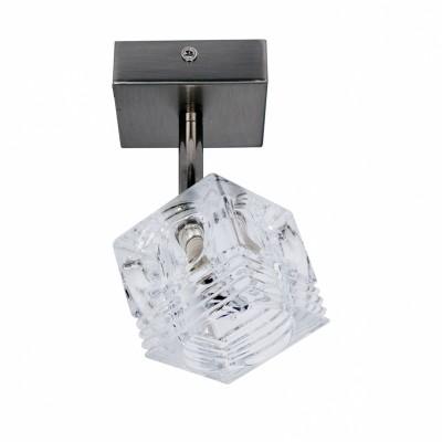 Точечный встраиваемый светильник Lussole LSA-7900-01 PALINUROПотолочные<br>Если вам необходимо осветить небольшую по площади зону, например, рабочее или спальное место, то с этой задачей великолепно справится потолочный светильник LUSSOLE LSA-7900-01 PALINURO! Благодаря форме плафона, освещение получается направленным и ярким. Простая и в то же время, яркая конструкция из металла и прозрачного кристалла, идеально впишется в любой современный интерьер, и будет там заметной деталью!<br><br>Установка на натяжной потолок: Ограничено<br>S освещ. до, м2: 3<br>Крепление: Планка<br>Тип лампы: галогенная / LED-светодиодная<br>Тип цоколя: G9<br>Цвет арматуры: серый<br>Количество ламп: 1<br>Диаметр, мм мм: 90<br>Расстояние от стены, мм: 120<br>Оттенок (цвет): серебристый (кристальный)<br>MAX мощность ламп, Вт: 40