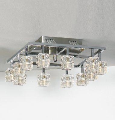 Люстра Lussole LSA-7907-12 Palinuro хромПотолочные<br>Люстра LUSSOLE LSA-7907-12 PALINURO аналогична люстре LUSSOLE LSA-7907-08 PALINURO, но отличается количеством лампочек – двенадцать вместо восьми, а значит, большей площадью освещения – до шестнадцати квадратных метров. Она прекрасно подойдет в столовую или гостиную – в комнаты, где собирается много людей, и где нужно много яркого света. Люстра будет великолепным дополнением к интерьеру в стиле «модерн», «хай-тек» или «минимализм».<br><br>Установка на натяжной потолок: Ограничено<br>S освещ. до, м2: 16<br>Крепление: Планка<br>Тип лампы: галогенная / LED-светодиодная<br>Тип цоколя: G4<br>Цвет арматуры: серебристый<br>Количество ламп: 12<br>Ширина, мм: 400<br>Длина, мм: 400<br>Высота, мм: 150<br>Оттенок (цвет): серебристый хром (кристальный)<br>MAX мощность ламп, Вт: 20