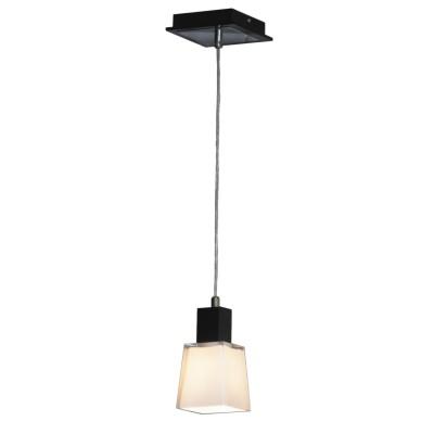 Светильник Lussole LSC-2506-01 Lente хром/черныйОдиночные<br>Изящный светильник LUSSOLE LSC-2506-01 LENTE в черно-белой цветовой гамме будет прекрасно смотреться в комнате с высокими потолками – благодаря длинной части подвесного крепления, он зрительно уравновесит помещение, и луч света будет освещать именно ту зону, которую вам необходимо. С его помощью можно украсить и современный интерьер – простая форма как нельзя кстати подходит для этого, так и классический – черно-белые цвета это символ классики. Матовый плафон светильника создает мягкое и комфортное для глаз освещение.<br><br>S освещ. до, м2: 3<br>Крепление: планка<br>Тип лампы: накаливания / энергосбережения / LED-светодиодная<br>Тип цоколя: E14<br>Количество ламп: 1<br>Ширина, мм: 140<br>MAX мощность ламп, Вт: 40<br>Расстояние от стены, мм: 120<br>Высота, мм: 200 - 1200<br>Цвет арматуры: серебристый