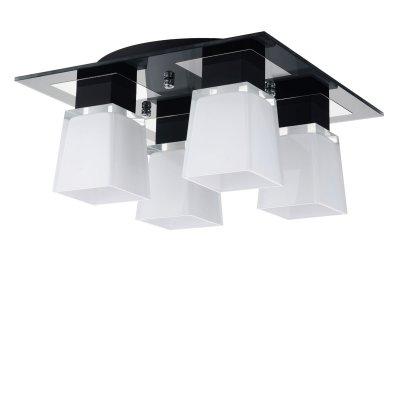 Люстра Lussole LSC-2507-04 Lente хромПотолочные<br>Для создания направленного и мягкого освещения в комнате площадью до одиннадцати квадратных метров прекрасно подойдет светильник с четырьмя плафонами LUSSOLE LSC-2507-04 LENTE. Классическая черно-белая цветовая гамма гармонично сочетается со строгой геометрической конструкцией, образуя совершенный ансамбль. Светильник будет эффектной деталью в вашем интерьере!<br><br>Установка на натяжной потолок: Ограничено<br>S освещ. до, м2: 11<br>Крепление: Планка<br>Тип лампы: накаливания / энергосбережения / LED-светодиодная<br>Тип цоколя: E14<br>Количество ламп: 4<br>Ширина, мм: 380<br>MAX мощность ламп, Вт: 40<br>Расстояние от стены, мм: 19<br>Цвет арматуры: серебристый