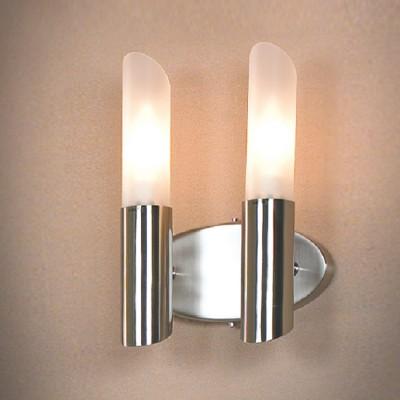 Светильник Lussole LSC-2801-02 Lano никельСовременные<br>LSC-2801-02<br><br>S освещ. до, м2: 6<br>Тип лампы: накаливания / энергосбережения / LED-светодиодная<br>Тип цоколя: E14<br>Количество ламп: 2<br>Ширина, мм: 200<br>MAX мощность ламп, Вт: 40<br>Расстояние от стены, мм: 120<br>Высота, мм: 270<br>Оттенок (цвет): белый<br>Цвет арматуры: серый