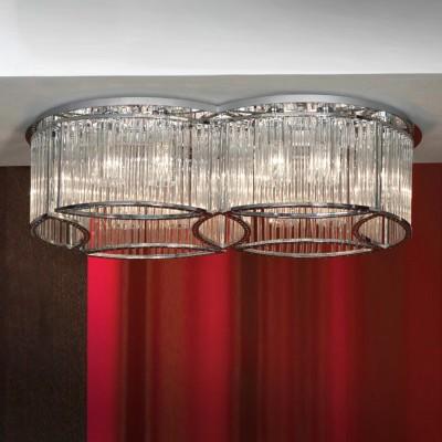 Люстра Lussole LSC-3307-14 NardoПотолочные<br>Люстра состоит из двух соединенных между собой плафонов, разделенных на секции, каждая из которых включает  в себя две лампочки. Поэтому создаваемое освещение захватывает площадь помещения до тридцати восьми квадратных метров! Множество граней отражают свет, заставляя люстру сверкать и переливаться. Стильный дизайн, сочетание хрома и хрусталя, делают ее желанным приобретением для любого современного интерьера!<br><br>Установка на натяжной потолок: Ограничено<br>S освещ. до, м2: 38<br>Крепление: Планка<br>Тип лампы: накаливания / энергосбережения / LED-светодиодная<br>Тип цоколя: E14<br>Цвет арматуры: серебристый<br>Количество ламп: 14<br>Ширина, мм: 470<br>Длина, мм: 780<br>Высота, мм: 220<br>MAX мощность ламп, Вт: 40