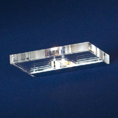 Светильник Lussole LSC-5301-01 Diamante хромХай-тек<br>Оригинальный светильник LUSSOLE LSC-5301-01 DIAMANTE как будто вырублен из цельного кристалла и выточен в форме прямоугольной плитки! Издалека он напоминает стеклянную подсвеченную полочку, и великолепно смотрится в интерьере. Его можно использовать отдельно, или создать настенный рисунок из нескольких аналогичных светильников. Благодаря материалу, из которого сделан плафон, освещение создается направленным и ярким.<br><br>S освещ. до, м2: 3<br>Тип лампы: галогенная / LED-светодиодная<br>Тип цоколя: G9<br>Количество ламп: 1<br>Ширина, мм: 170<br>MAX мощность ламп, Вт: 40<br>Расстояние от стены, мм: 120<br>Высота, мм: 20<br>Оттенок (цвет): кристальный<br>Цвет арматуры: серебристый