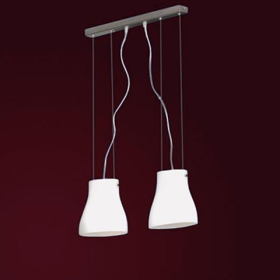Светильник Lussole LSC-5606-02 Bianco никельДвойные<br>LSC-5606-02<br><br>S освещ. до, м2: 8<br>Тип товара: Светильник подвесной<br>Тип лампы: накаливания / энергосбережения / LED-светодиодная<br>Тип цоколя: E14<br>Количество ламп: 2<br>Ширина, мм: 100<br>MAX мощность ламп, Вт: 40<br>Длина, мм: 470<br>Высота, мм: 200-1200<br>Оттенок (цвет): белый<br>Цвет арматуры: серый