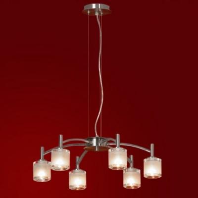 Люстра Lussole LSC-6003-06 Vittorito никельПодвесные<br>Оригинальная подвесная люстра Lussole LSC-6003-06 Vittorito создана, чтобы стать украшением Вашего интерьера! Выполненная в стиле «модерн», она обладает всеми характеристиками, за которые он так ценится: оригинальной формой, тщательно продуманными и гармонично сочетающимися деталями, «нейтральными» оттенками, подходящими в любую цветовую гамму помещения. Люстра великолепно впишется в комнату площадью до 16 кв.м. и высоким потолком, сделает ее запоминающейся, стильной и эффектной. Рекомендуем Вам<br><br>Установка на натяжной потолок: Да<br>S освещ. до, м2: 16<br>Крепление: Планка<br>Тип лампы: галогенная / LED-светодиодная<br>Тип цоколя: G9<br>Цвет арматуры: серый<br>Количество ламп: 6<br>Диаметр, мм мм: 490<br>Высота, мм: 200-1200<br>Оттенок (цвет): белый<br>MAX мощность ламп, Вт: 40