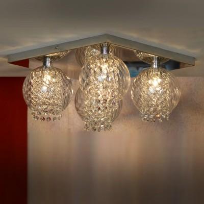 Люстра Lussole Lsc-7907-04Потолочные<br><br><br>Установка на натяжной потолок: Ограничено<br>S освещ. до, м2: 8<br>Крепление: Планка<br>Тип товара: Люстра<br>Скидка, %: 24<br>Тип лампы: галогенная / LED-светодиодная<br>Тип цоколя: G9<br>Количество ламп: 4<br>Ширина, мм: 400<br>MAX мощность ламп, Вт: 40<br>Длина, мм: 400<br>Высота, мм: 190<br>Оттенок (цвет): Бесцветный<br>Цвет арматуры: серебристый