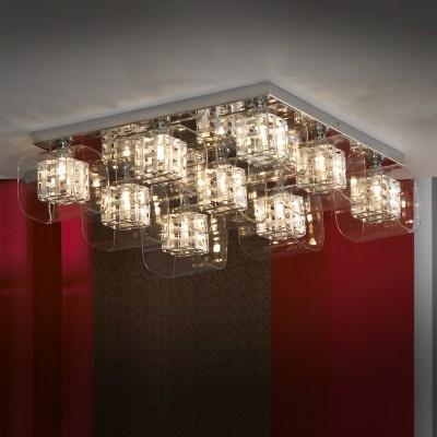 Люстра Lussole Lsc-8007-09Потолочные<br><br><br>Установка на натяжной потолок: Да<br>S освещ. до, м2: 18<br>Крепление: Планка<br>Тип товара: Люстра<br>Тип лампы: галогенная / LED-светодиодная<br>Тип цоколя: G9<br>Количество ламп: 9<br>Ширина, мм: 530мм<br>MAX мощность ламп, Вт: 40<br>Длина, мм: 530мм<br>Высота, мм: 160мм<br>Оттенок (цвет): Бесцветный<br>Цвет арматуры: серебристый
