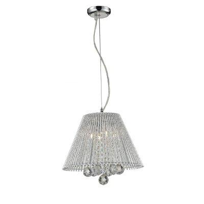 Подвесной светильник Lussole lsc-8406-04Подвесные<br>Подвесной светильник Lussole lsc-8406-04 создаст в комнате неповторимую, наполненную красотой и изысканностью, обстановку и станет настоящим украшением Вашего интерьера! Плафон полностью выполнен из хрусталя, и лучи, попадая на множество граней, отражаются в них и создают уникальное, «искрящееся» освещение. Эту люстру можно использовать в любой цветовой гамме комнаты - она будет прекрасно гармонировать и с яркими и с пастельными тонами. Площадь освещения достигает 11 кв.м., а наличие подвеса позволяет светильнику идеально подойти к комнате с высоким потолком.<br><br>Установка на натяжной потолок: Да<br>S освещ. до, м2: 11<br>Крепление: Планка<br>Тип лампы: галогенная / LED-светодиодная<br>Тип цоколя: G9<br>Количество ламп: 4<br>MAX мощность ламп, Вт: 40<br>Диаметр, мм мм: 340<br>Высота, мм: 1100<br>Цвет арматуры: серебристый