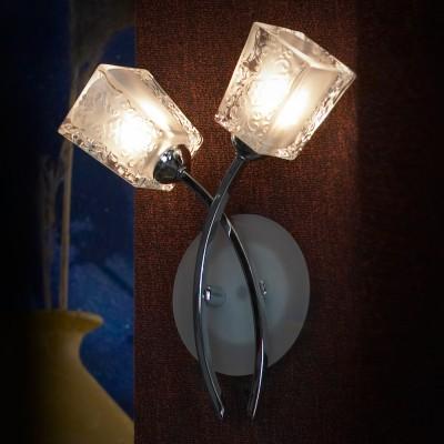 Светильник настенный бра Lussole LSC-9001-02 SARONNOСовременные<br>Для того, чтобы Ваш интерьер в стиле «модерн» стал запоминающимся, приобрел «шарм» и элегантность, добавьте в него «завершающий штрих» в виде настенного светильника Lussole lsc-9001-02! Соединение «строгих» линий, металла и стекла с «романтичной» «цветочной» конструкцией делает бра невероятно привлекательным, эффектным и ярким. Два плафона, направленные в противоположные стороны, создают освещение на площади до 6 кв.м. Рекомендуем Вам использовать светильник в комплекте из нескольких экземпляров и потолочной люстрой из этой же серии, тогда интерьер будет выглядеть «законченным» и совершенным, как будто над ним поработал профессиональный дизайнер.<br><br>S освещ. до, м2: 6<br>Тип лампы: галогенная / LED-светодиодная<br>Тип цоколя: G9<br>Цвет арматуры: серебристый<br>Количество ламп: 2<br>Ширина, мм: 100<br>Длина, мм: 240<br>Высота, мм: 300<br>MAX мощность ламп, Вт: 40