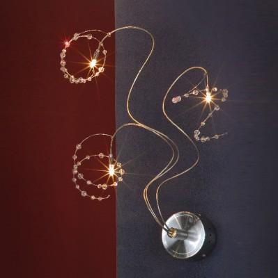 Светильник Lussole LSF-0401-03 Ronchi никельМодерн<br>Затейливый и очень изящный светильник LUSSOLE LSF-0401-03 RONCHI придется по вкусу ценителям современного стиля в интерьере. Он будет к месту в любой комнате – в спальне создаст атмосферу спокойствия и гармонии, гостиной придаст броскость и яркость, а если вы установите его, к примеру, над креслом, в котором читаете, то с этим светильником вам будет еще уютней и комфортней!<br><br>S освещ. до, м2: 4<br>Тип товара: Светильник настенный бра<br>Скидка, %: 26<br>Тип лампы: галогенная / LED-светодиодная<br>Тип цоколя: G4<br>Количество ламп: 3<br>Ширина, мм: 300<br>MAX мощность ламп, Вт: 20<br>Расстояние от стены, мм: 150<br>Высота, мм: 600<br>Оттенок (цвет): кристальный<br>Цвет арматуры: серый