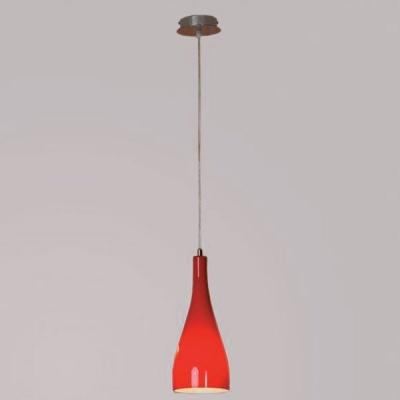 Светильник подвесной Lussole LSF-1156-01 RIMINIодиночные подвесные светильники<br>Подвесной светильник Lussole LSF-1156-01 неотразим в своей эстетике и превосходен в качественных характеристиках! В едином изделии сочетаются лаконичность, элегантность и яркость. Светильник Lussole LSF-1156-01  обладает утончённой эстетикой, благодаря удлинённому силуэту и интересному дизайнерскому ходу стилизовать плафон под изысканно оформленный бокал, что открывает новые возможности для реализации различных интерьерных задумок. Также завораживает и выбор цветовых сочетаний: матовое стекло сочного красного оттенка дополнено хромированной конструкцией «прохладного» серебристого мерцания. Перед Вами прекрасный шедевр осветительной эстетики: яркий, стильный и лаконичный!<br><br>S освещ. до, м2: 4<br>Тип лампы: накаливания / энергосбережения / LED-светодиодная<br>Тип цоколя: E27<br>Цвет арматуры: серебристый<br>Количество ламп: 1<br>Диаметр, мм мм: 150<br>Высота, мм: 500-1200<br>Оттенок (цвет): красный<br>MAX мощность ламп, Вт: 60