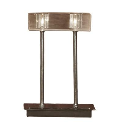 Настольная лампа Lussole LSF-1304-02Декоративные<br>Настольная лампа – это не просто источник дополнительного освещения, но и оригинальный элемент декора. Его можно установить в спальне, гостиной, кабинете и других комнатах. Интернет-магазин «Светодом» предлагает настольные лампы разных стилей по доступным ценам. Благодаря большому ассортименту Вы обязательно найдете в нашем каталоге именно ту модель, которую искали.   Настольная лампа Lussole LSF-1304-02 – прекрасный вариант для завершения интерьера. Ее можно включить одновременно с люстрой для более яркого освещения или без нее для создания уютной атмосферы, настраивающей на отдых.   Купить настольную лампу Lussole LSF-1304-02 Вы можете с помощью виртуальной «Корзины» или по контактным номерам, указанным на сайте.<br><br>S освещ. до, м2: 6<br>Тип лампы: галогенная / LED-светодиодная<br>Тип цоколя: G9<br>Количество ламп: 2<br>Ширина, мм: 140<br>MAX мощность ламп, Вт: 40<br>Длина, мм: 210<br>Высота, мм: 310<br>Оттенок (цвет): белый<br>Цвет арматуры: серебристый