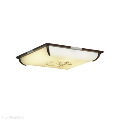 Светильник настенно-потолочный Lussole LSF-8022-03 MILISКвадратные<br>Настенно потолочный светильник Lussole (Люссоль) LSF-8022-03 подходит как для установки в вертикальном положении - на стены, так и для установки в горизонтальном - на потолок. Для установки настенно потолочных светильников на натяжной потолок необходимо использовать светодиодные лампы LED, которые экономнее ламп Ильича (накаливания) в 10 раз, выделяют мало тепла и не дадут расплавиться Вашему потолку.<br><br>S освещ. до, м2: 11<br>Тип лампы: люминесцентная<br>Тип цоколя: 2G11<br>Цвет арматуры: серебристый<br>Количество ламп: 3<br>Ширина, мм: 710<br>Длина, мм: 710<br>Расстояние от стены, мм: 120<br>MAX мощность ламп, Вт: 55
