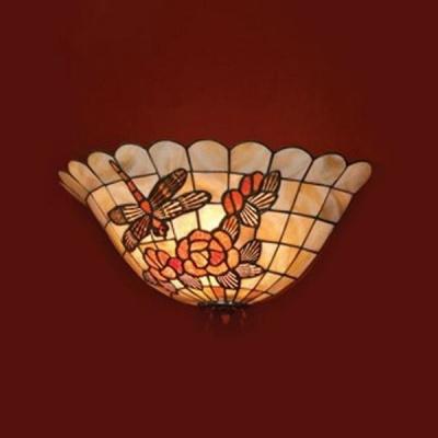 Светильник lsp-8811Тиффани<br><br><br>S освещ. до, м2: 4<br>Тип лампы: накаливания / энергосбережения / LED-светодиодная<br>Тип цоколя: E14<br>Цвет арматуры: copper<br>Количество ламп: 1<br>Ширина, мм: 390<br>Расстояние от стены, мм: 180<br>Высота, мм: 150<br>Оттенок (цвет): перламутровый<br>MAX мощность ламп, Вт: 60