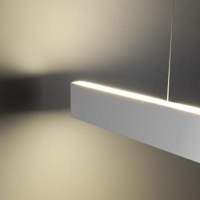 Линейный светодиодный подвесной двусторонний светильник (LSG-01-2-8*128-35-3000-MS) Электростандарт 128см 50W 3000K матовое серебро a041492