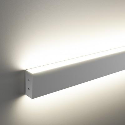 Линейный светодиодный накладной двусторонний светильник (LSG-02-2-8*128-35-3000-MS) Электростандарт 128см 50W 3000K матовое серебро фото