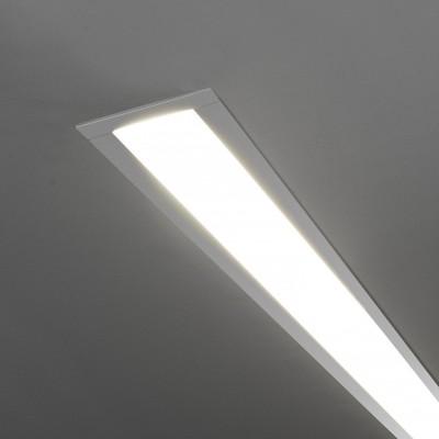 Линейный светодиодный встраиваемый светильник (LSG-03-5*128-21-3000-MS) Электростандарт 128см 25W 3000K матовое серебро фото