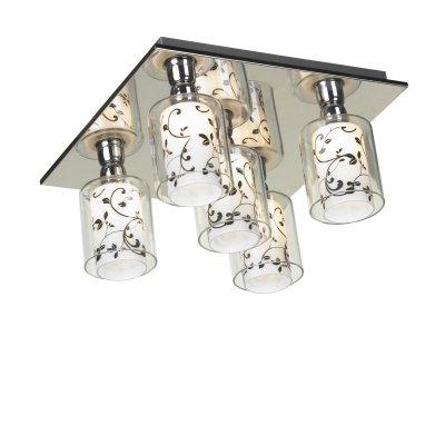 Люстра Lussole lsj-0307-05Потолочные<br>Потолочный светильник Lussole lsj-0307-05 предназначен для людей творческих, предпочитающих необычные и смелые идеи оформления интерьера. Его оригинальный дизайн идеально отвечает современным тенденциям светотехнической «моды». «Минималистичный» стиль оформления выбран дизайнерами неслучайно – декоративные детали только «перегрузили» бы конструкцию. Но «строгие» и четкие линии сделали светильник запоминающимся, эффектным и идеально подходящим для помещений с невысоким потолком. Внутри прозрачных стеклянных плафонов расположены матовые белые плафоны с нанесенными на них «растительным» черным рисунком, что придает люстре объем, и в то же время «легкость» и изящность. Дополнят общую «линию» стиля настенные бра из этой же серии.<br><br>Установка на натяжной потолок: Ограничено<br>S освещ. до, м2: 14<br>Крепление: Планка<br>Тип лампы: галогенная / LED-светодиодная<br>Тип цоколя: G9<br>Количество ламп: 5<br>Ширина, мм: 300<br>MAX мощность ламп, Вт: 40<br>Длина, мм: 300<br>Высота, мм: 150<br>Цвет арматуры: серебристый