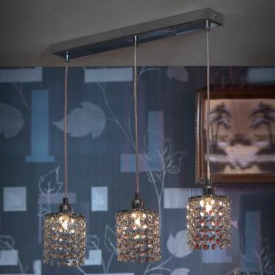 Люстра Lussole lsj-0406-03Подвесные<br>Стильный подвесной светильник Lussole lsj-0406-03 – яркий образец гармоничного сочетания современных технологий и традиционных материалов! Минималистичная конструкция, выполненная в оттенке «хром», украшена тремя хрустальными плафонами, которые придают ей шарм и «изюминку». Лучи, попадая на множество граней, отражаются в них и создают уникальное, «искрящееся» освещение. Светильник можно использовать в любой цветовой гамме комнаты - он будет прекрасно гармонировать и с яркими и с пастельными тонами.<br><br>Установка на натяжной потолок: Да<br>S освещ. до, м2: 8<br>Крепление: Планка<br>Тип лампы: галогенная / LED-светодиодная<br>Тип цоколя: G9<br>Количество ламп: 3<br>Ширина, мм: 100<br>MAX мощность ламп, Вт: 40<br>Длина, мм: 500<br>Высота, мм: 1200<br>Цвет арматуры: серебристый