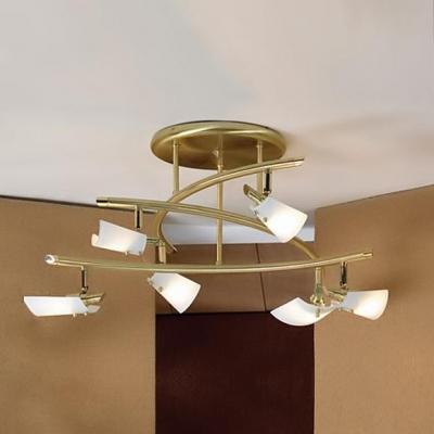 Люстра Lussole LSL-1309-06 Dragoni золотоПотолочные<br>Лаконичность формы и тонкое исполнение делают светильники в стиле модерн визитной карточкой искусного интерьера. К примеру, люстра серии Dragoni исключительна в своём функциональном и эстетическом сочетании. Это и практичный минимализм, и удобство крепления конструкции, и мягко изогнутые линии белоснежных плафонов, и приятное цветовое решение в тон матового золота. Достоинства люстры серии Dragoni позволят использовать её в помещениях любого размера и колорита. В обоях и фурнитуре возможно наличие узорчатых и геометрических элементов. Дополните интерьер мебелью с использованием древесной фактуры, столиками и шкафами с вставками из матового стекла, зеркалами в узорчатых багетах.<br><br>S освещ. до, м2: 16<br>Тип лампы: галогенная / LED-светодиодная<br>Тип цоколя: G9<br>Цвет арматуры: золото<br>Количество ламп: 6<br>Диаметр, мм мм: 600<br>Высота, мм: 350<br>Оттенок (цвет): белый<br>MAX мощность ламп, Вт: 40