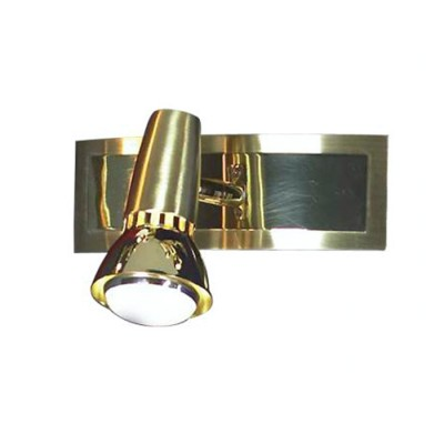 Светильник Lussole LSL-1401-01 Aprilia золотоОдиночные<br>Светильники-споты – это оригинальные изделия с современным дизайном. Они позволяют не ограничивать свою фантазию при выборе освещения для интерьера. Такие модели обеспечивают достаточно качественный свет. Благодаря компактным размерам Вы можете использовать несколько спотов для одного помещения. <br>Интернет-магазин «Светодом» предлагает необычный светильник-спот Lussole LSL-1401-01 по привлекательной цене. Эта модель станет отличным дополнением к люстре, выполненной в том же стиле. Перед оформлением заказа изучите характеристики изделия. <br>Купить светильник-спот Lussole LSL-1401-01 в нашем онлайн-магазине Вы можете либо с помощью формы на сайте, либо по указанным выше телефонам. Обратите внимание, что у нас склады не только в Москве и Екатеринбурге, но и других городах России.<br><br>S освещ. до, м2: 3<br>Тип лампы: накал-я - энергосбер-я/LED R71<br>Тип цоколя: R50<br>Количество ламп: 1<br>Ширина, мм: 60<br>MAX мощность ламп, Вт: 40<br>Расстояние от стены, мм: 130<br>Высота, мм: 180<br>Цвет арматуры: золотой