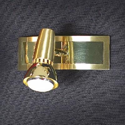 Светильник Lussole LSL-1401-01 Aprilia золотоОдиночные<br>Светильники-споты – это оригинальные изделия с современным дизайном. Они позволяют не ограничивать свою фантазию при выборе освещения для интерьера. Такие модели обеспечивают достаточно качественный свет. Благодаря компактным размерам Вы можете использовать несколько спотов для одного помещения.  Интернет-магазин «Светодом» предлагает необычный светильник-спот Lussole LSL-1401-01 по привлекательной цене. Эта модель станет отличным дополнением к люстре, выполненной в том же стиле. Перед оформлением заказа изучите характеристики изделия.  Купить светильник-спот Lussole LSL-1401-01 в нашем онлайн-магазине Вы можете либо с помощью формы на сайте, либо по указанным выше телефонам. Обратите внимание, что у нас склады не только в Москве и Екатеринбурге, но и других городах России.<br><br>S освещ. до, м2: 3<br>Тип лампы: накал-я - энергосбер-я/LED R71<br>Тип цоколя: R50<br>Количество ламп: 1<br>Ширина, мм: 60<br>MAX мощность ламп, Вт: 40<br>Расстояние от стены, мм: 130<br>Высота, мм: 180<br>Цвет арматуры: золотой