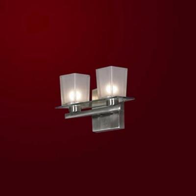 Светильник Lussole LSL-1801-02 Salandra никельМодерн<br>LSL-1801-02<br><br>S освещ. до, м2: 6<br>Тип лампы: накаливания / энергосбережения / LED-светодиодная<br>Тип цоколя: E14<br>Количество ламп: 2<br>Ширина, мм: 280<br>MAX мощность ламп, Вт: 40<br>Расстояние от стены, мм: 110<br>Высота, мм: 170<br>Оттенок (цвет): белый<br>Цвет арматуры: серый