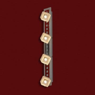 Светильник Lussole LSL-2109-04 Secinaro хромС 4 лампами<br>LSL-2109-04<br><br>S освещ. до, м2: 11<br>Тип товара: Светильник поворотный спот<br>Скидка, %: 13<br>Тип лампы: галогенная / LED-светодиодная<br>Тип цоколя: G9<br>Количество ламп: 4<br>Ширина, мм: 70<br>MAX мощность ламп, Вт: 40<br>Расстояние от стены, мм: 140<br>Высота, мм: 550<br>Оттенок (цвет): белый<br>Цвет арматуры: серебристый