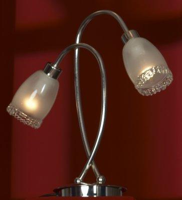 Светильник настольный Lussole lsl-3204-02Декоративные<br>Настольная лампа Lussole lsl-3204-02 – прекрасное дополнение к световому освещению интерьера в стиле «модерн» или «флористика»! Конструкция, выполненная в форме распускающихся цветочных бутонов, «увенчанных» стеклянным «кружевом», создаст в комнате атмосферу красоты, гармонии и очарования, и будет способствовать отдыху после напряженного трудового дня. Два плафона направлены в разные стороны, поэтому создаваемое освещение достигает площади до 6 кв.м. Рекомендуем Вам в качестве потолочного светильника использовать люстру из этой же серии, а также комплект настенных бра для дополнительной подсветки.<br><br>S освещ. до, м2: 6<br>Тип товара: настольная лампа<br>Скидка, %: 55<br>Тип лампы: накал-я - энергосбер-я<br>Тип цоколя: E14cs<br>Количество ламп: 2<br>Ширина, мм: 370<br>MAX мощность ламп, Вт: 40<br>Высота, мм: 380<br>Цвет арматуры: серебристый