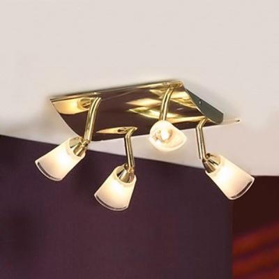 Светильник Lussole LSL-5001-04 Rasen золотоС 4 лампами<br>Светильники-споты – это оригинальные изделия с современным дизайном. Они позволяют не ограничивать свою фантазию при выборе освещения для интерьера. Такие модели обеспечивают достаточно качественный свет. Благодаря компактным размерам Вы можете использовать несколько спотов для одного помещения.  Интернет-магазин «Светодом» предлагает необычный светильник-спот Lussole LSL-5001-04 по привлекательной цене. Эта модель станет отличным дополнением к люстре, выполненной в том же стиле. Перед оформлением заказа изучите характеристики изделия.  Купить светильник-спот Lussole LSL-5001-04 в нашем онлайн-магазине Вы можете либо с помощью формы на сайте, либо по указанным выше телефонам. Обратите внимание, что у нас склады не только в Москве и Екатеринбурге, но и других городах России.<br><br>S освещ. до, м2: 10<br>Тип лампы: галогенная<br>Тип цоколя: G9<br>Количество ламп: 4<br>Ширина, мм: 250<br>MAX мощность ламп, Вт: 40<br>Длина, мм: 250<br>Расстояние от стены, мм: 120<br>Оттенок (цвет): белый+прозрачный<br>Цвет арматуры: золотой