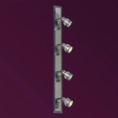 Светильник Lussole LSL-5299-04 Perspicuo хромС 4 лампами<br>Светильники-споты – это оригинальные изделия с современным дизайном. Они позволяют не ограничивать свою фантазию при выборе освещения для интерьера. Такие модели обеспечивают достаточно качественный свет. Благодаря компактным размерам Вы можете использовать несколько спотов для одного помещения.  Интернет-магазин «Светодом» предлагает необычный светильник-спот Lussole LSL-5299-04 по привлекательной цене. Эта модель станет отличным дополнением к люстре, выполненной в том же стиле. Перед оформлением заказа изучите характеристики изделия.  Купить светильник-спот Lussole LSL-5299-04 в нашем онлайн-магазине Вы можете либо с помощью формы на сайте, либо по указанным выше телефонам. Обратите внимание, что у нас склады не только в Москве и Екатеринбурге, но и других городах России.<br><br>S освещ. до, м2: 11<br>Тип лампы: галогенная / LED-светодиодная<br>Тип цоколя: GU10<br>Количество ламп: 4<br>Ширина, мм: 70<br>MAX мощность ламп, Вт: 50<br>Расстояние от стены, мм: 100<br>Высота, мм: 720<br>Оттенок (цвет): белый<br>Цвет арматуры: серебристый