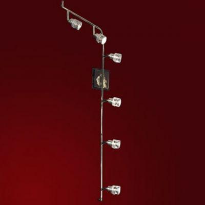 Светильник Lussole LSL-5299-06 Perspicuo хромБолее 5 ламп<br>LSL-5299-06<br><br>S освещ. до, м2: 16<br>Тип товара: Светильник поворотный спот<br>Скидка, %: 47<br>Тип лампы: галогенная / LED-светодиодная<br>Тип цоколя: GU10<br>Количество ламп: 6<br>Ширина, мм: 120<br>MAX мощность ламп, Вт: 50<br>Расстояние от стены, мм: 100<br>Высота, мм: 1400<br>Оттенок (цвет): белый<br>Цвет арматуры: серебристый