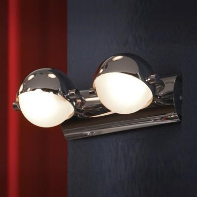 Светильник Lussole LSL-5301-02 Emilia хромСовременные<br>LSL-5301-02<br><br>S освещ. до, м2: 5<br>Тип лампы: галогенная / LED-светодиодная<br>Тип цоколя: G9<br>Цвет арматуры: серебристый хром<br>Количество ламп: 2<br>Ширина, мм: 250<br>Расстояние от стены, мм: 150<br>Высота, мм: 130<br>Оттенок (цвет): белый<br>MAX мощность ламп, Вт: 40