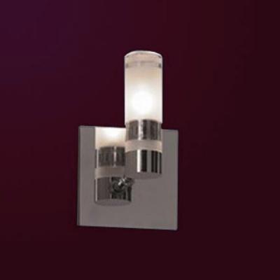 Светильник Lussole LSL-5401-01 Acqua хромСовременные<br>Светильники для ванных комнат отличаются повышенными требованиями электробезопасности<br><br>S освещ. до, м2: 3<br>Тип лампы: галогенная / LED-светодиодная<br>Тип цоколя: G9<br>Количество ламп: 1<br>Ширина, мм: 100<br>MAX мощность ламп, Вт: 40<br>Расстояние от стены, мм: 120<br>Высота, мм: 160<br>Оттенок (цвет): белый<br>Цвет арматуры: серебристый