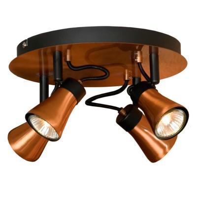 Светильник Lussole LSL-6801-04споты 4 лампы<br>Светильники-споты – это оригинальные изделия с современным дизайном. Они позволяют не ограничивать свою фантазию при выборе освещения для интерьера. Такие модели обеспечивают достаточно качественный свет. Благодаря компактным размерам Вы можете использовать несколько спотов для одного помещения. <br>Интернет-магазин «Светодом» предлагает необычный светильник-спот Loft LSL-6801-04 по привлекательной цене. Эта модель станет отличным дополнением к люстре, выполненной в том же стиле. Перед оформлением заказа изучите характеристики изделия. <br>Купить светильник-спот Loft LSL-6801-04 в нашем онлайн-магазине Вы можете либо с помощью формы на сайте, либо по указанным выше телефонам. Обратите внимание, что у нас склады не только в Москве и Екатеринбурге, но и других городах России.<br><br>S освещ. до, м2: 10<br>Тип лампы: галогенная/LED<br>Тип цоколя: GU10<br>Цвет арматуры: черный<br>Количество ламп: 4<br>Диаметр, мм мм: 250<br>Высота, мм: 160<br>MAX мощность ламп, Вт: 50