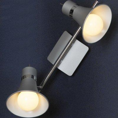 Светильник Lussole LSL-7201-02Двойные<br>Светильники-споты – это оригинальные изделия с современным дизайном. Они позволяют не ограничивать свою фантазию при выборе освещения для интерьера. Такие модели обеспечивают достаточно качественный свет. Благодаря компактным размерам Вы можете использовать несколько спотов для одного помещения.  Интернет-магазин «Светодом» предлагает необычный светильник-спот Lussole LSL-7201-02 по привлекательной цене. Эта модель станет отличным дополнением к люстре, выполненной в том же стиле. Перед оформлением заказа изучите характеристики изделия.  Купить светильник-спот Lussole LSL-7201-02 в нашем онлайн-магазине Вы можете либо с помощью формы на сайте, либо по указанным выше телефонам. Обратите внимание, что у нас склады не только в Москве и Екатеринбурге, но и других городах России.<br><br>S освещ. до, м2: 8<br>Тип лампы: накал-я - энергосбер-я<br>Тип цоколя: E27<br>Количество ламп: 2<br>Ширина, мм: 360<br>MAX мощность ламп, Вт: 60<br>Расстояние от стены, мм: 190<br>Высота, мм: 150