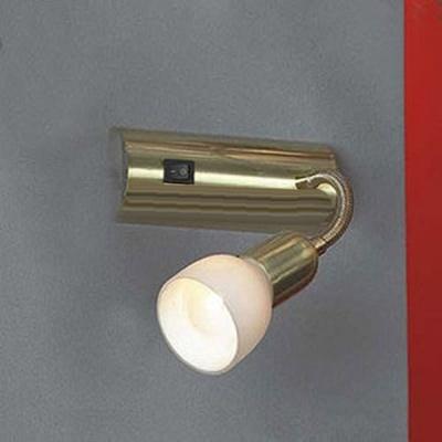 Светильник Lussole LSL-7790-01 Barete золотоГибкие<br>Светильник LUSSOLE LSL-7790-01 BARETE отличается от светильника LUSSOLE LSL-7760-01 BARETE только золотым цветовым сочетанием. Поворотный механизм-спот позволяет перемещать луч света в нескольких направлениях и регулировать яркость освещения, делая его направленным или рассеянным. Современный дизайн светильника легко впишется в любой интерьер в стиле «модерн» или «хай-тек»!<br><br>S освещ. до, м2: 6<br>Тип лампы: накаливания / энергосбережения / LED-светодиодная<br>Тип цоколя: E14<br>Количество ламп: 1<br>Ширина, мм: 70<br>MAX мощность ламп, Вт: 40<br>Расстояние от стены, мм: 290<br>Высота, мм: 200<br>Оттенок (цвет): белый<br>Цвет арматуры: золотой